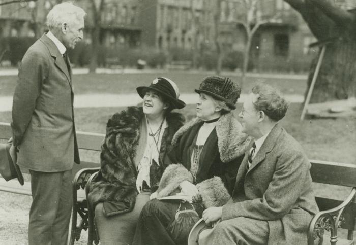 R: S.S. McClure, Willa Cather, Ida Tarbell, Will Irwin. 1924
