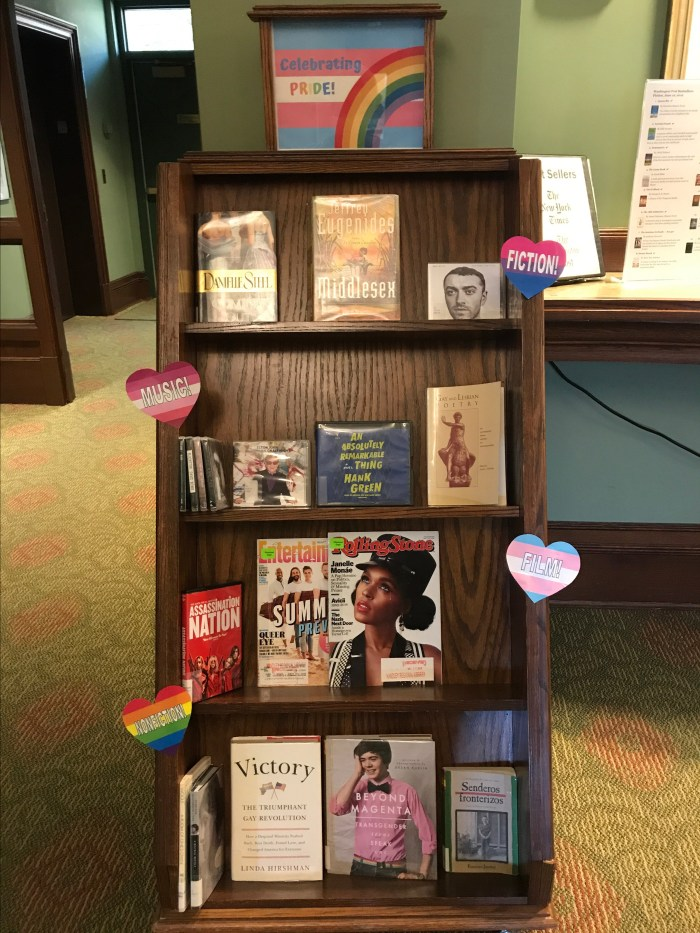 Celebrating Pride Display at The Handley Library in Winchester, VA