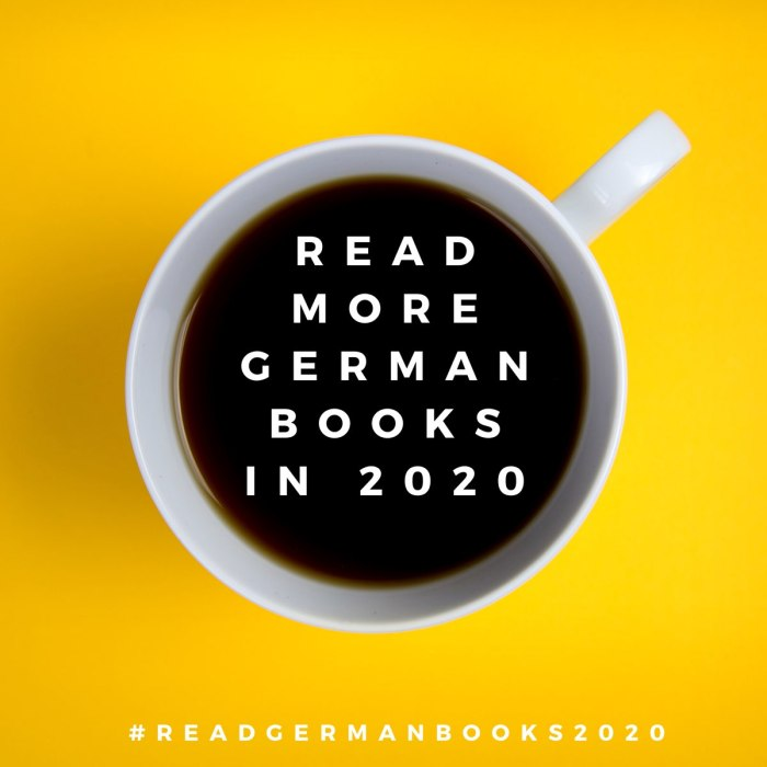 Read More German Books in 2020 #readgermanbooks2020