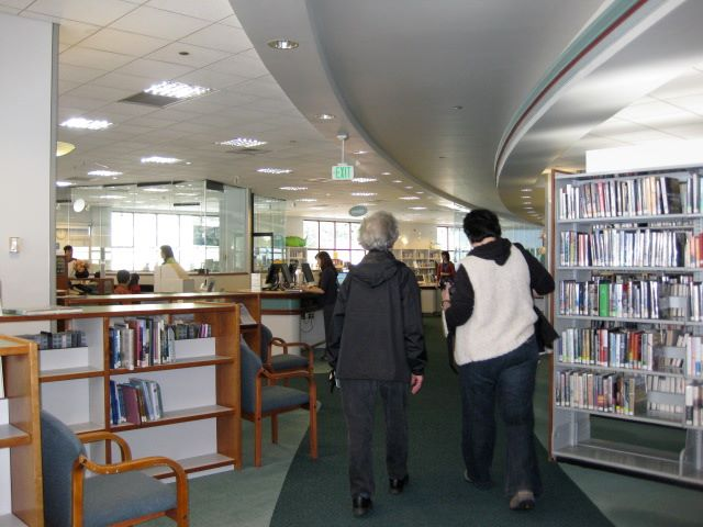 Library Visit: Juneau, Alaska - inside the library