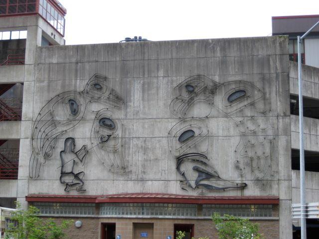 Juneau Public Library metal mural