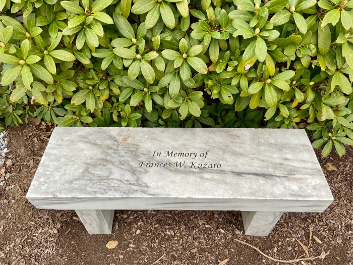 Memorial Bench - East Haddam Free Public Library