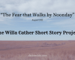 The Fear That Walks by Noonday