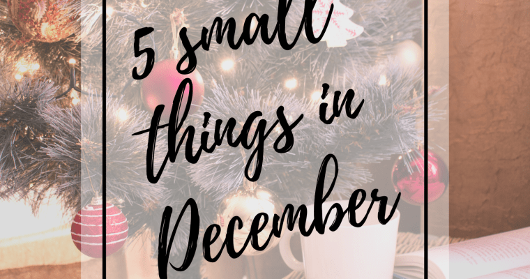 Blogmas: 5 Small Things in December