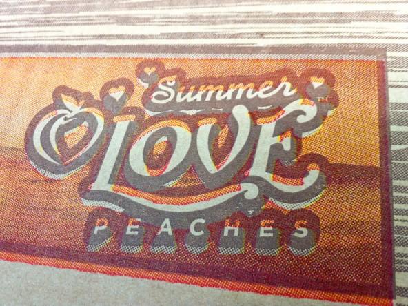 Jind Fruit Co. Summer Love Peaches™ mis-registration details.