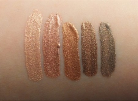Jordana Made to Last Liquid Eyeshadow Swatches