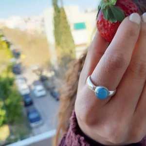 Δαχτυλίδι ασήμι 925° με Καρχηδόνιο