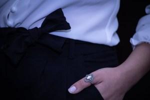 Δαχτυλίδι ασήμι 925° με Μαρκασίτη σε λευκό χρωμα
