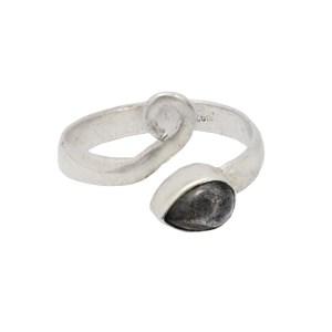 Δαχτυλίδι ασήμι 925° με Λαμπραδορίτη με γύρισμα
