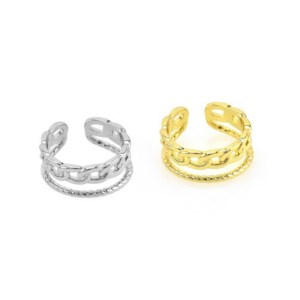 Δαχτυλίδι Μεταλλικό Ορειχάλκινο (Μπρούτζινο) σε Χρυσό Χρώμα 8x21mm