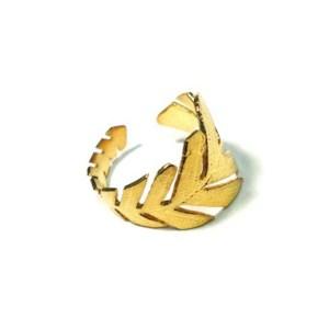 Δαχτυλίδι Μεταλλικό Μπρούτζινο Χυτό Σεβαλιέ Φύλλο 60x12mm