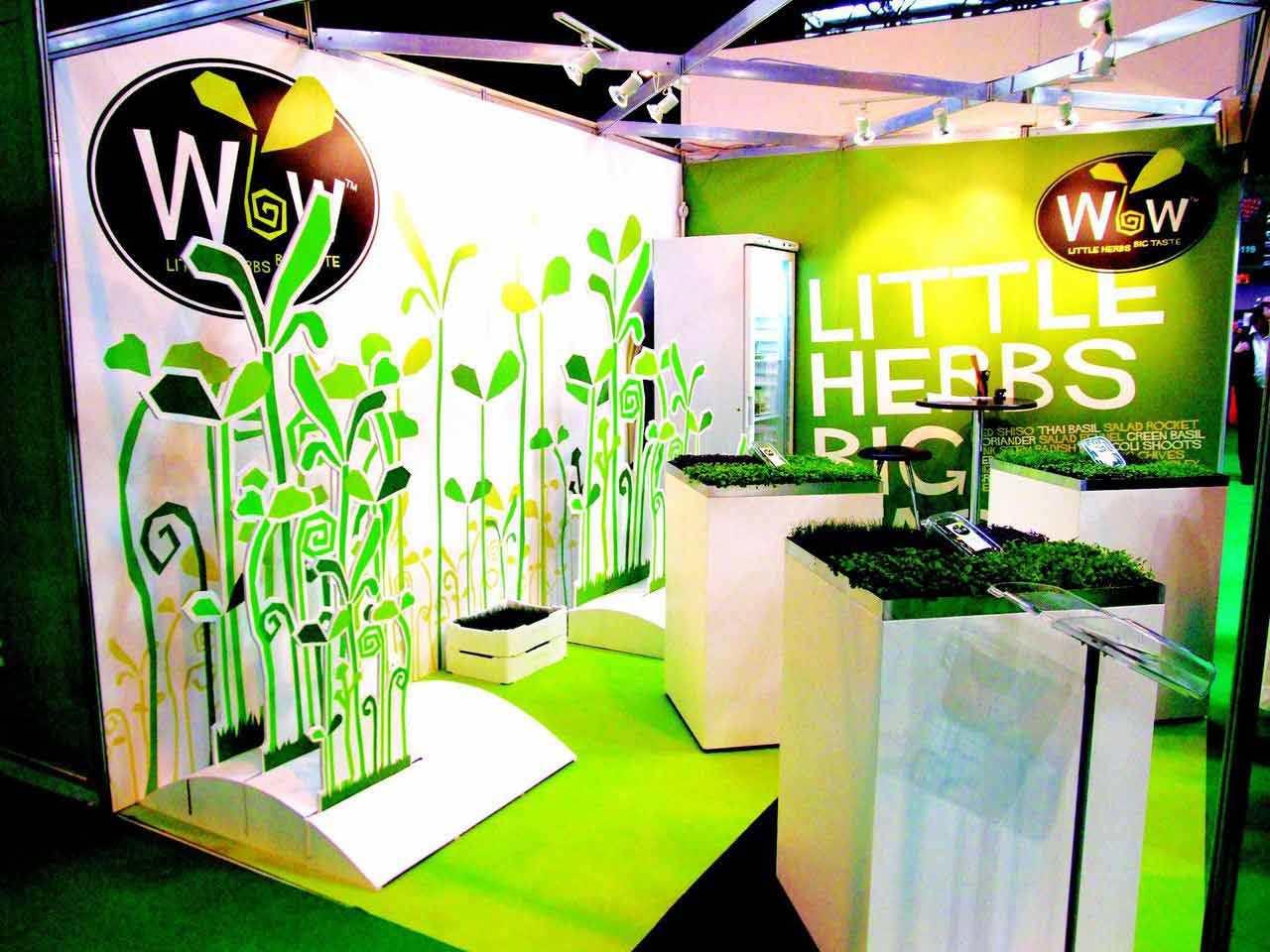 Shell Clad Exhibition Stand : Shell clad exhibition stand design print for wow