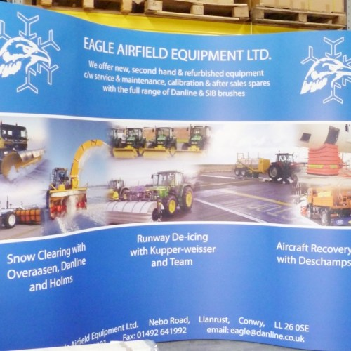 Pop up exhibition stand by Chromatics. Large format printers in Sussex.