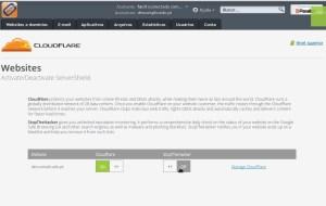 Serviço CloudFlare activo