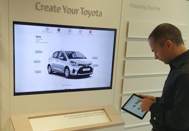 Toyota utilise des solutions d'affichage sous Chrome