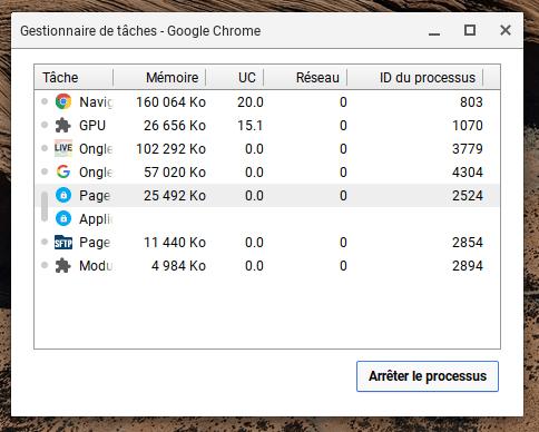 Comment forcer la fermeture d'une application sur Chromebook ?