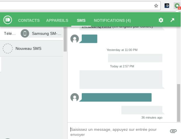 Pushbullet : écrire des sms avec votre Chromebook !