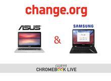 Une pétition pour faire sortir les Chromebooks de Asus et de Samsung en France !