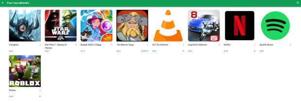 Le Google Play Store affiche des applications pour Chromebook !