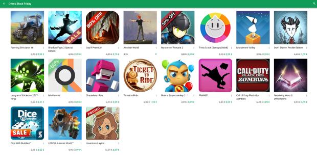 Profitez du Black Friday et du Cyber Monday sur le Google Play Store !