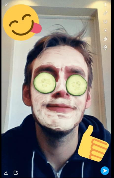 Snapchat sur Chromebook