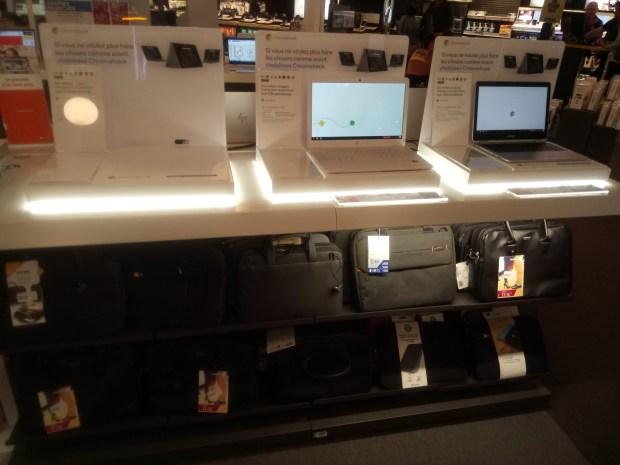 A Fnac Lille, les Chromebooks se montrent en rayon !