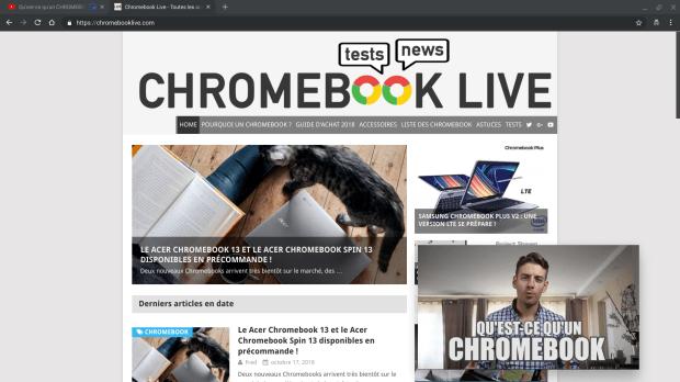 Chrome : le PiP disponible sous Linux, Windows, Mac et bientôt Chrome OS !