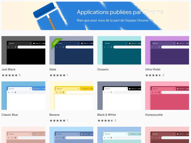 Chrome : de nouveaux thèmes proposés par Google !