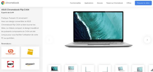 Chromebooks : Google a enfin réagit sur le site !
