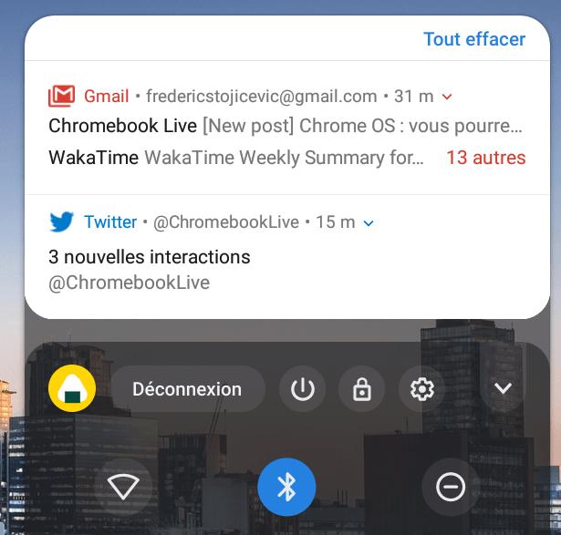Chrome OS : la fonctionnalité d'effacement des notifications change de place !