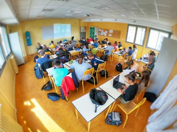 Education Chromebook Econocom - Collège et Lycée Le Mans (vue de la classe)