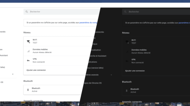 Chrome OS : le Dark mode en prévision !