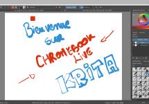 Krita : une énième alternative à Photoshop sur Chromebook ?