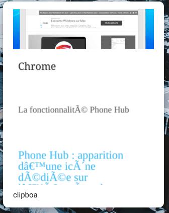 Chrome OS : le gestionnaire de presse-papier en action !