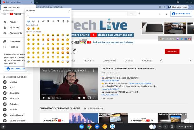 Chrome OS : un nouveau sélecteur d'emoji dédié arrive bientôt !