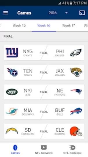 NFL Game Pass on Chromecast