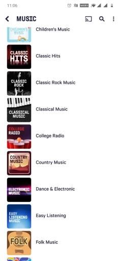 Chromecast TuneIn Radio to Speaker/TV