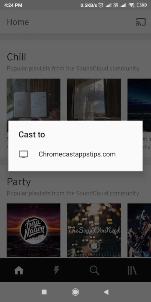 SoundCloud on Chromecast