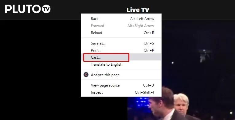 How to cast Pluto TV using Chromecast