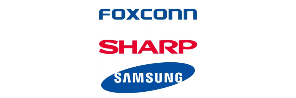 sharpsamsungfoxconn