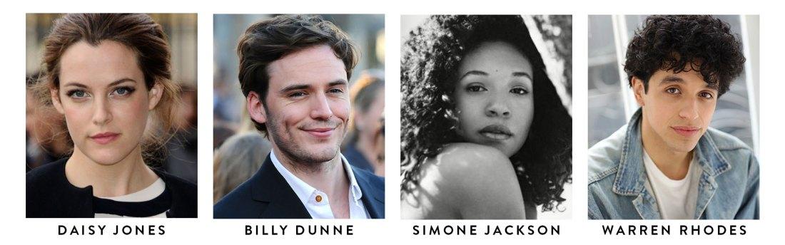 Daisy Jones & The Six serie TV casting adaptation Riley Keough Sam Clafin Nabiyah Be