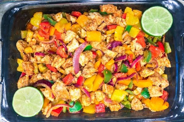 Rainbow Chicken Fajitas - Chronically Gluten Free