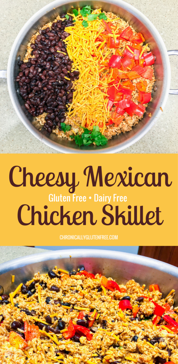 Cheesy Mexican Chicken Skillet - Chronically Gluten Free