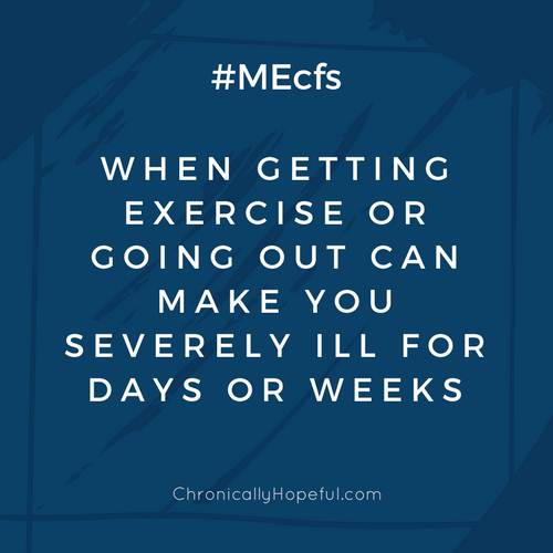 Getting exercise or going out, ME Awareness Graphics
