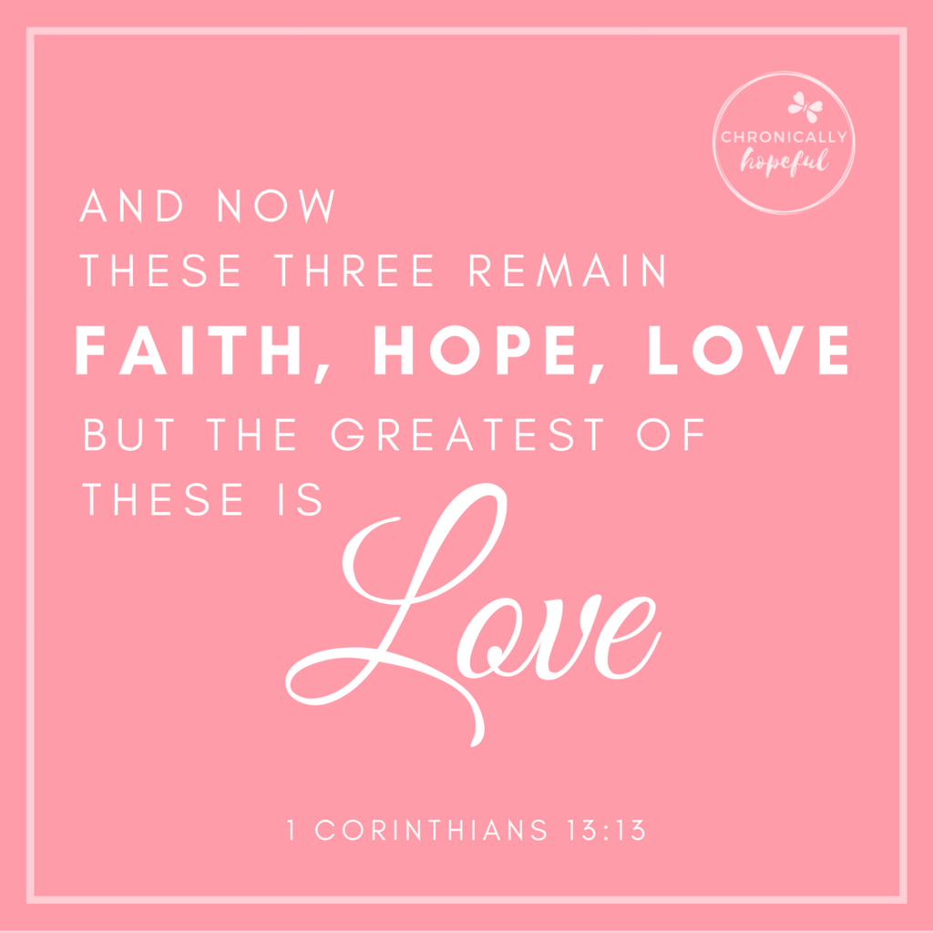 1 Cor 13v13 Faith Hope Love VERSE