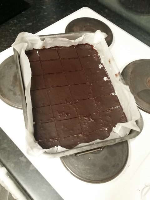 Process of making Bounty bars: Finished product