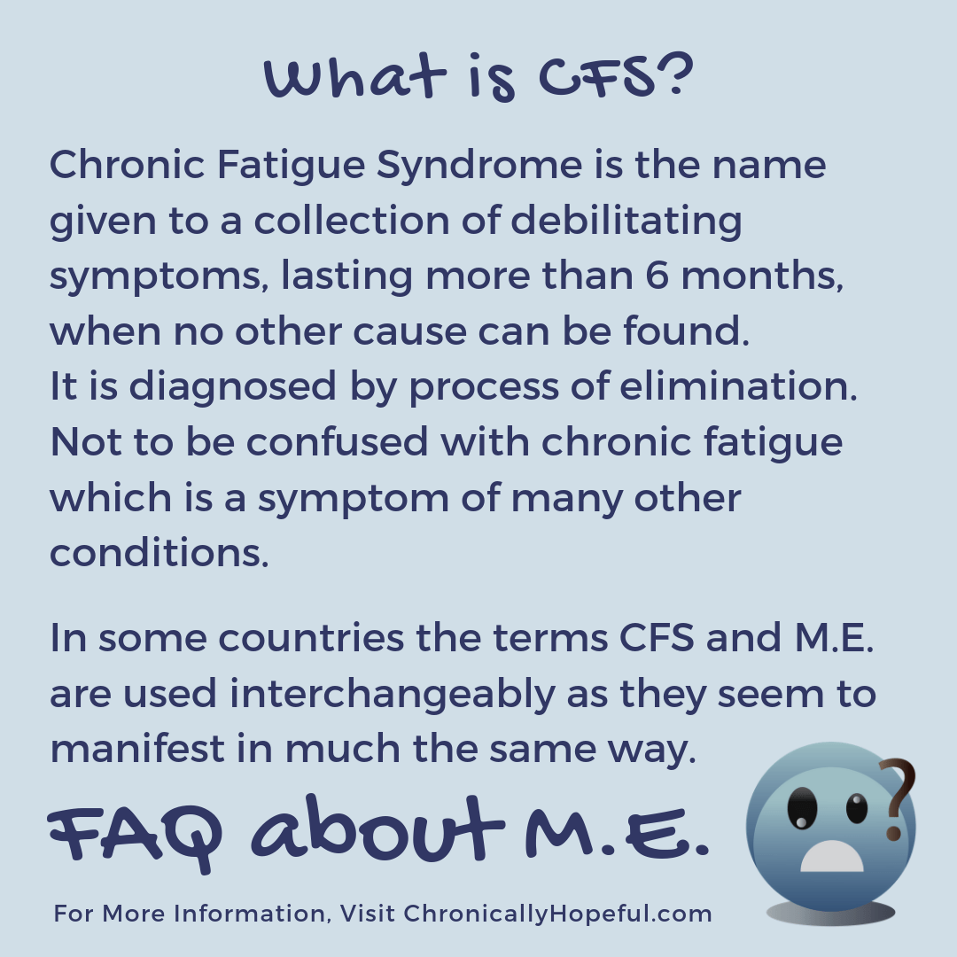 FAQ about M.E. What is CFS?