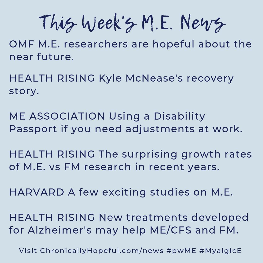 A list of this week's MEcfs news