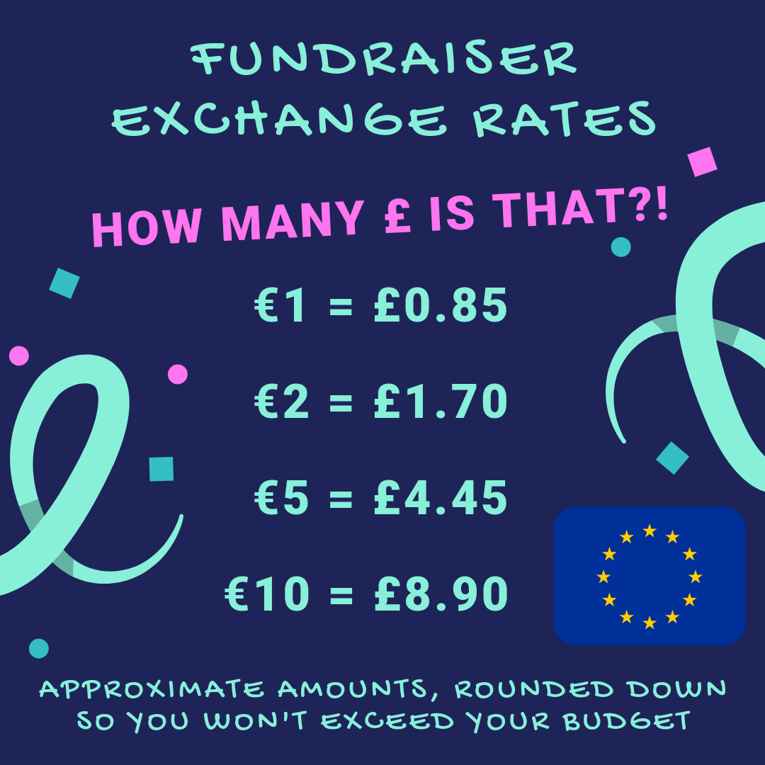 Fundraiser exchange rates
