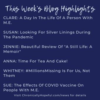 A list of this week's MEcfs Blog Highlights